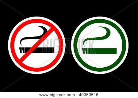 No Smoking and Smoking Zone