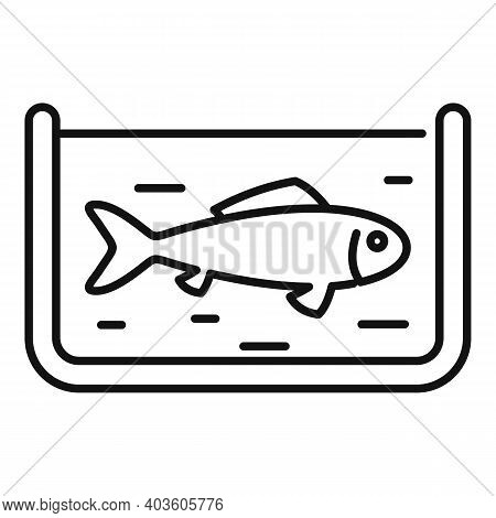 Fish Farming Icon. Outline Fish Farming Vector Icon For Web Design Isolated On White Background
