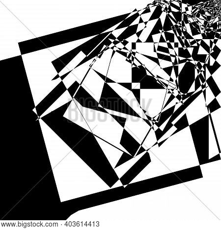 Intersected Trajectory Corner To Oposite Corner Stairs Perspective Illusion Abstract Background Blac