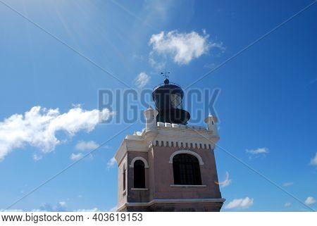 Lighthouse Tower At Castillo San Felipe Del Morro In Puerto Rico.