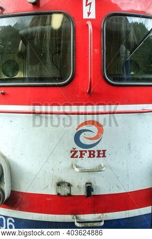 Sarajevo, Bosnia And Herzegovina - June 3, 2008: Electric Locomotive With The Logo Of Zfbh Also Call