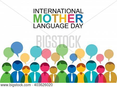 Vector Illustration Of International Mother Language Day Concept Design