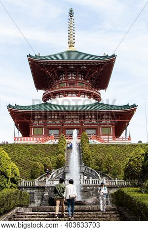 Narita, Japan - May 3, 2019 Great Peace Pagoda That Is The Building In Naritasan Shinshoji Temple. T