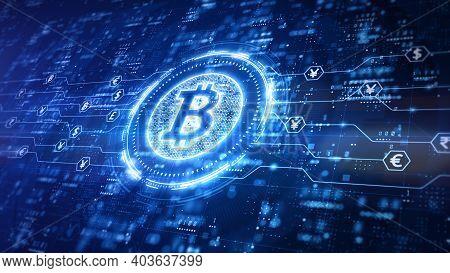 Bitcoin Blockchain Cryptocurrency Digital Encryption, Digital Money Exchange, Technology Global Netw