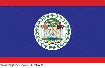 National Belize Flag, Official Colors And Proportion Correctly. National Belize Flag. Vector Illustr