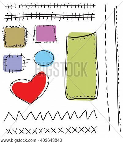 Vector Collection Of Varied Seams And Patches