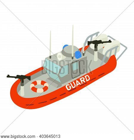 Guard Ship Icon. Isometric Of Guard Ship Vector Icon For Web Design Isolated On White Background