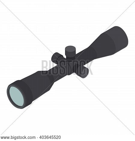 Sniper Scope Icon. Isometric Of Sniper Scope Vector Icon For Web Design Isolated On White Background