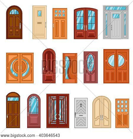 Design Collection Of Detailed Colorful Front And Interior Doors To Private Houses And Public Buildin
