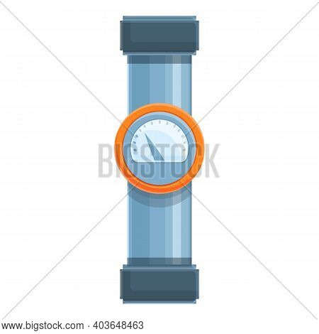 Sanitary Pipe Icon. Cartoon Of Sanitary Pipe Vector Icon For Web Design Isolated On White Background