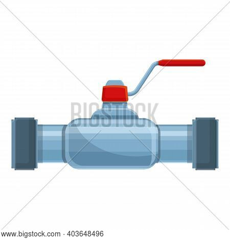 Distribution Pipe Icon. Cartoon Of Distribution Pipe Vector Icon For Web Design Isolated On White Ba