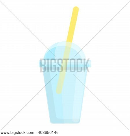 Shake Plastic Glass Icon. Cartoon Of Shake Plastic Glass Vector Icon For Web Design Isolated On Whit