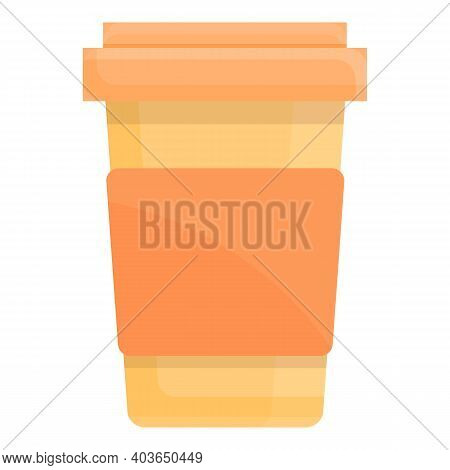 Coffe Glass Icon. Cartoon Of Coffe Glass Vector Icon For Web Design Isolated On White Background