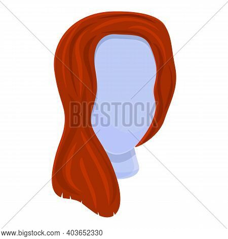 Casual Wig Icon. Cartoon Of Casual Wig Vector Icon For Web Design Isolated On White Background