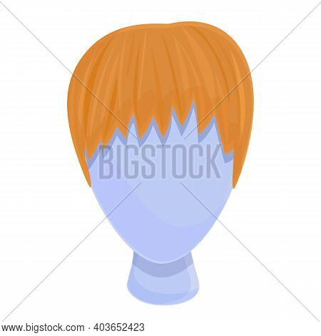 Lady Wig Icon. Cartoon Of Lady Wig Vector Icon For Web Design Isolated On White Background