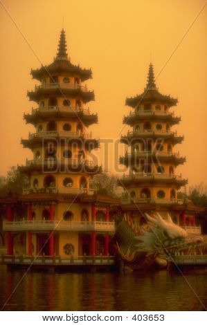 The Dragon And Tiger Pagodas