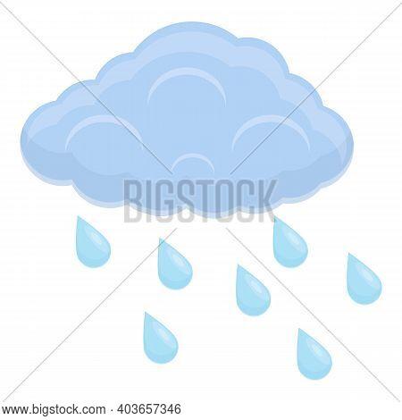 Rainy Weather Icon. Cartoon Of Rainy Weather Vector Icon For Web Design Isolated On White Background