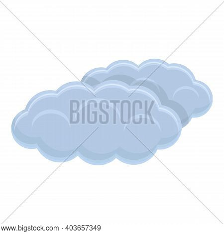 Climate Clouds Icon. Cartoon Of Climate Clouds Vector Icon For Web Design Isolated On White Backgrou