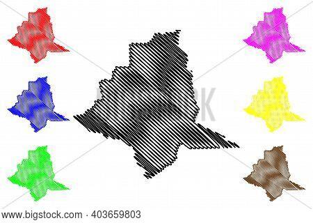 Silver Bow County, Montana (u.s. County, United States Of America, Usa, U.s., Us) Map Vector Illustr