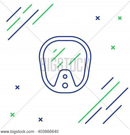 Line Diving Mask Icon Isolated On White Background. Extreme Sport. Diving Underwater Equipment. Colo