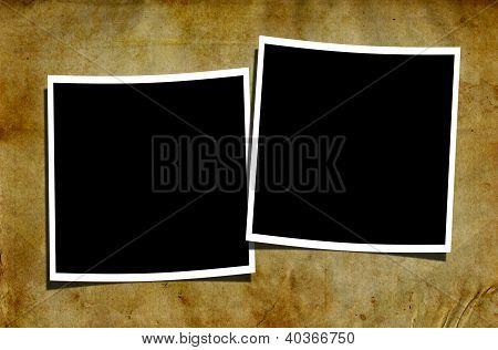 Blank Polaroids On Grungy Background