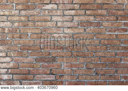 Light Brown Brick Wall Abstract Background. Texture Of Bricks.template Design For Web Banners.