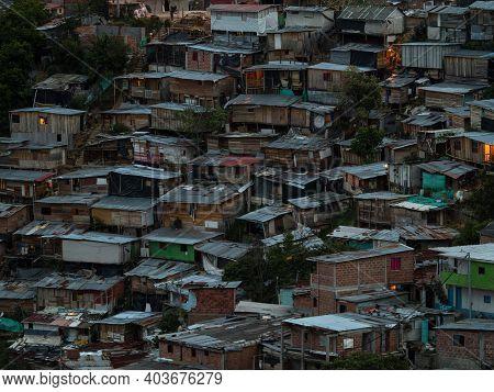 Panorama Cityscape Of Juan Xxiii Neighborhood In San Javier Comuna 13 Medellin Colombia South Americ