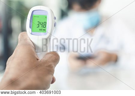 Fever Meter Measure Fever For Man People With Covid 19 Ai For Stop Covid 19 Virus Covid-19 Or Corona