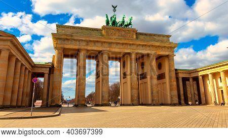 Beautiful View Of The Brandenburg Gate, Berlin