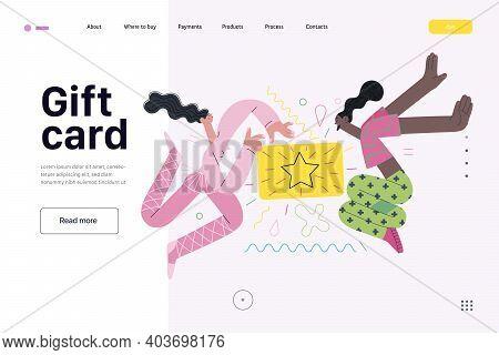 Discounts, Sale, Promotion Voucher, Web Template - Modern Flat Vector Concept Illustration Of People