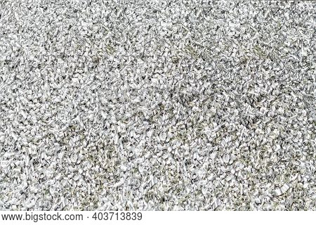 Many Bulk Aluminum Machine Scrap Or Chips From Manufacture Process For Recycle