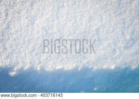 Fresh Snow Texture. Winter Background