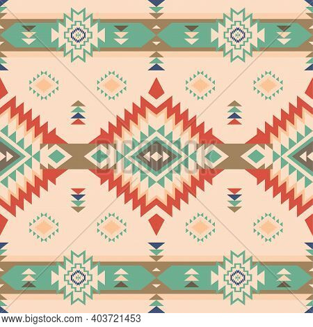 Native American Southwest, Aztec, Navajo Seamless Pattern. Tribal Geometric Print. Ethnic Design Wal