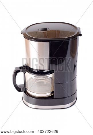 Electric coffee machine. Isolated object on white background