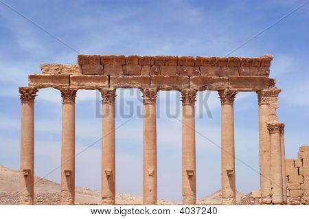 ancient Palmyra Syria place roman ruins destroyed poster