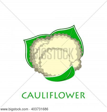 Cauliflower Icon In Flat Style. Isolated Object. Cauliflower Logo. Isolated Object. Vegetable From T
