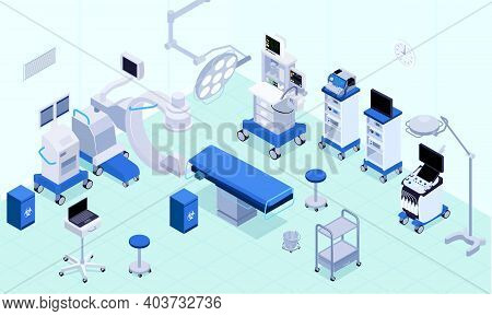 Medical Operating Room Equipment Lighting Heart Rate Monitoring Lungs Ventilators Anesthesia Machine