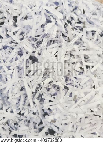 Documents And Paper Work Shredded In Order To Be Recycled.