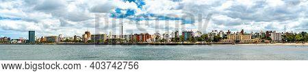Panorama Of Montevideo At The Rio De La Plata, Uruguay