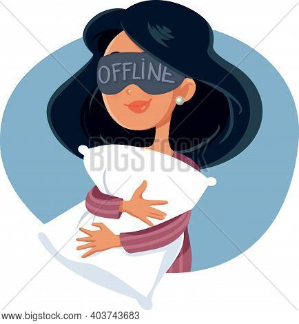 Woman Disconnected From The Internet Ready To Sleep