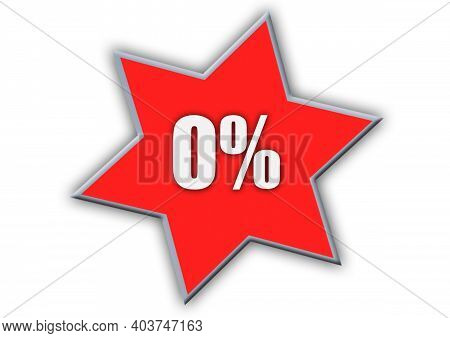 0 Percent Off 3d Sign On White Background, Special Offer 0% Discount Tag, Sale Up To 0 Percent Off,b