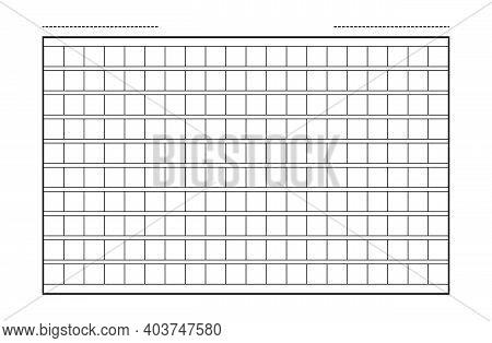 Squared Manuscript Icon Paper Vector File, Creative Closeup Isolated On White Background Illustratio