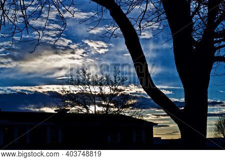 Winter Sky over Canyon, Texas in the Texas Panhandle.
