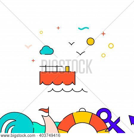 Berth, Pier Filled Line Vector Icon, Simple Illustration, Water Safety And Watercraft Related Bottom