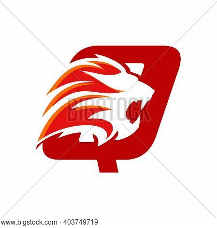 Bold And Strong Illustration Logo Design Initial Q Combine With Lion Head, Make Your Company Look Br