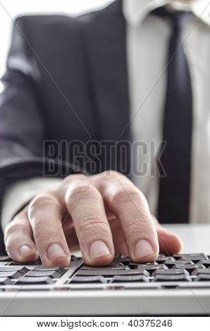 Businessman Using A Computer