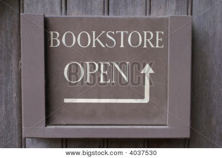 Sign. Bookstore Open.