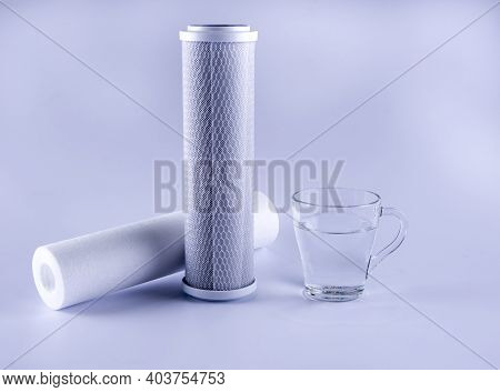 Water Purifier Cartridge And Clean Water. Cartridge Membrane For Water Filtration Ro (reverse Osmosi