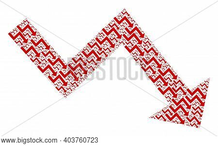 Vector Recession Arrow Fractal Is Designed With Repeating Fractal Recession Arrow Icons. Fractal Mos