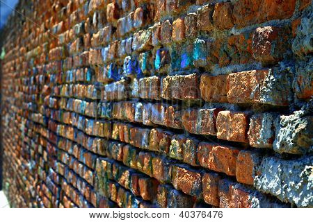 Rugged Red Brick Wall